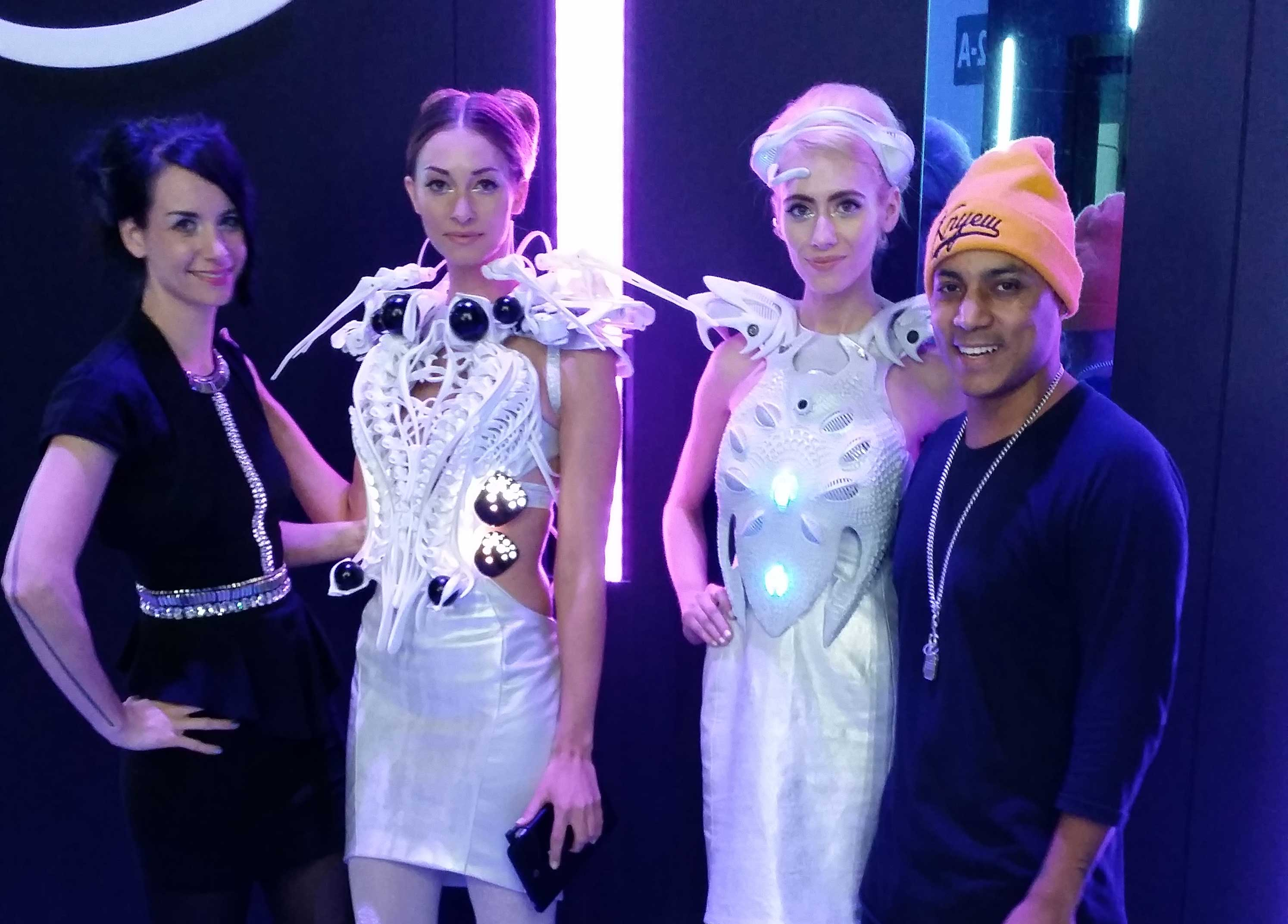 CES 2014 - Both dress designs by Anouk (Spider & Synapse Dresses)